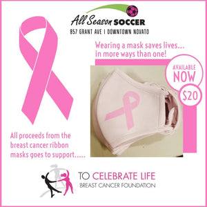 Pink Breast Cancer Mask