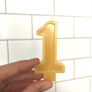 The Eco Party Place Beeswax Birthday Candle number