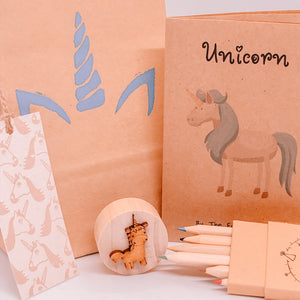 Unicorn plastic free party bag The Eco Party Place