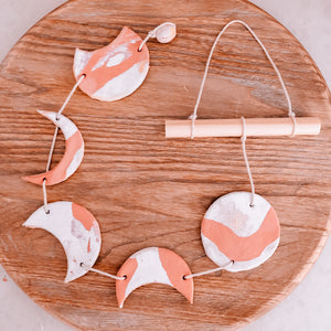Eco Creatives Kids Subscription Box Moon Phase Hanger
