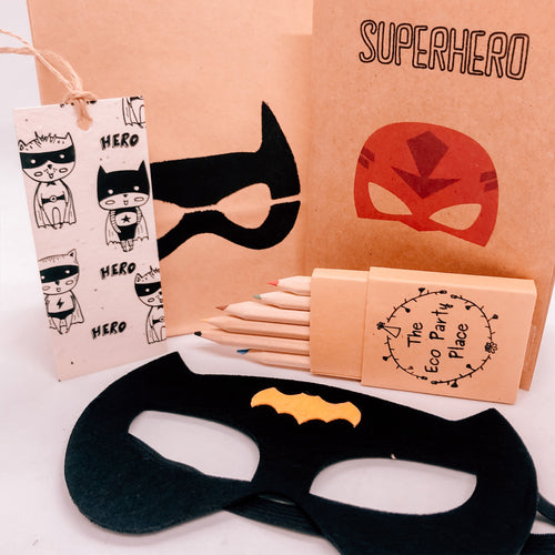 The Eco Party Place Superhero plastic free party bag