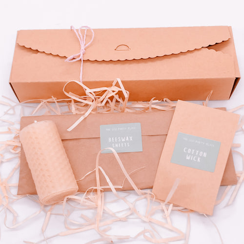 The Eco Party Place plastic free party bag DIY beeswax candle kit