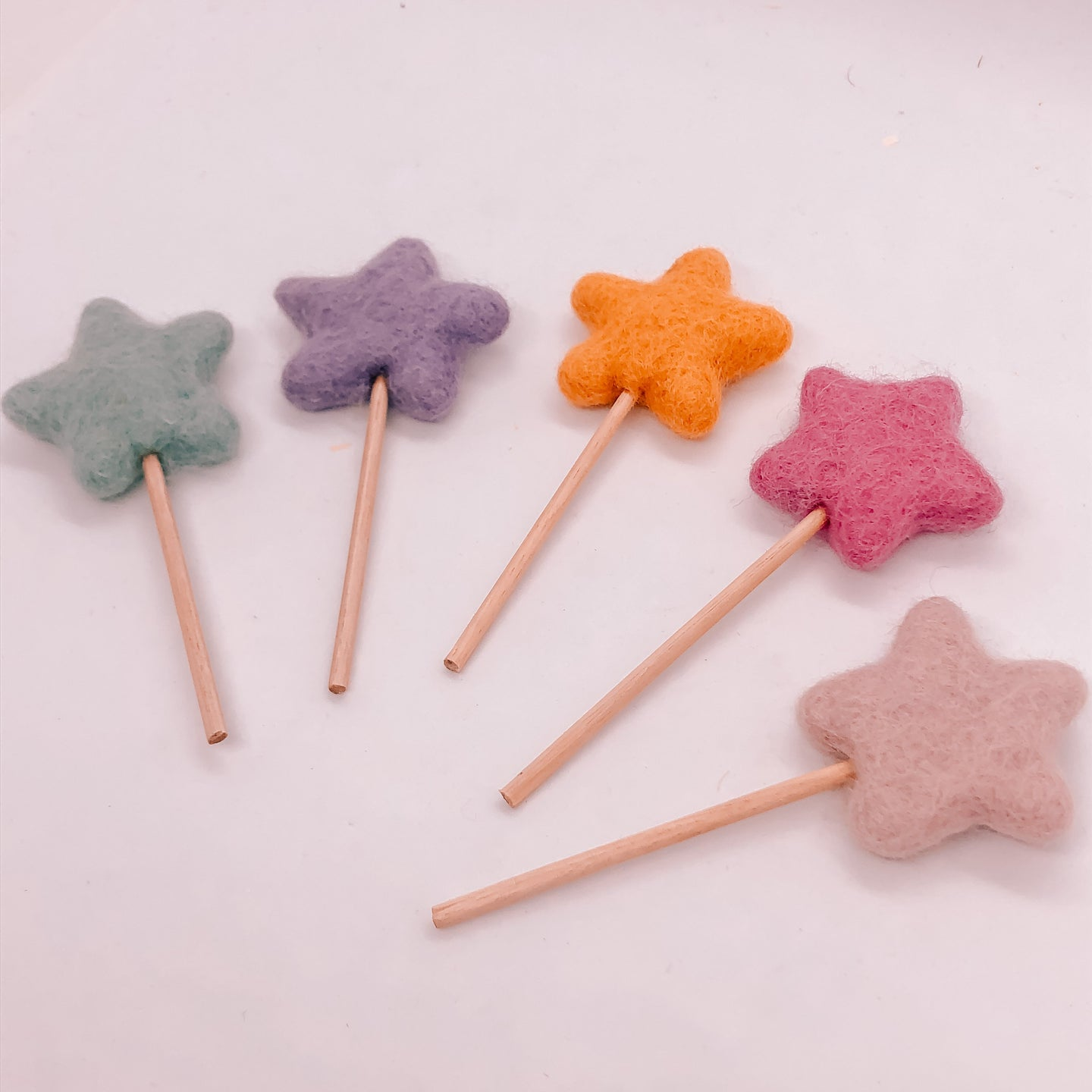 Felt fairy star wands the eco party place