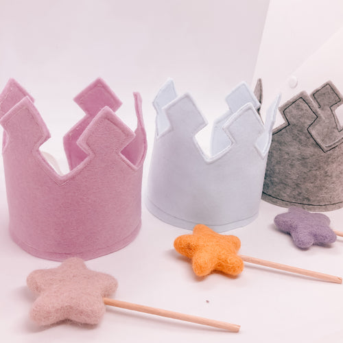 Felt Crown and Wand Set! - Made to order