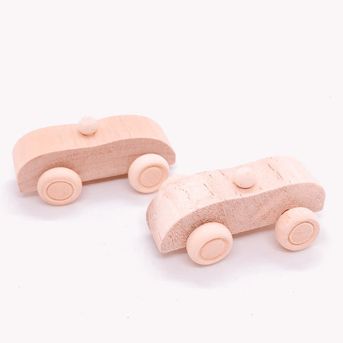The Eco Party Place small wooden car - plastic free party bag