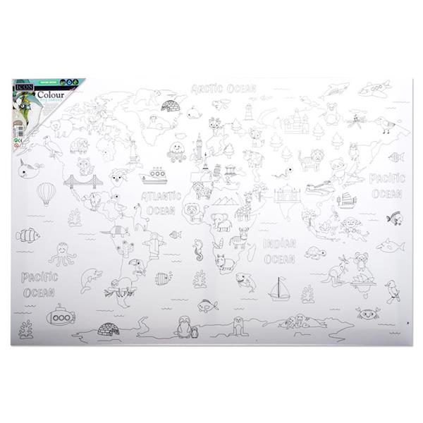 Colour My Canvas - World Map