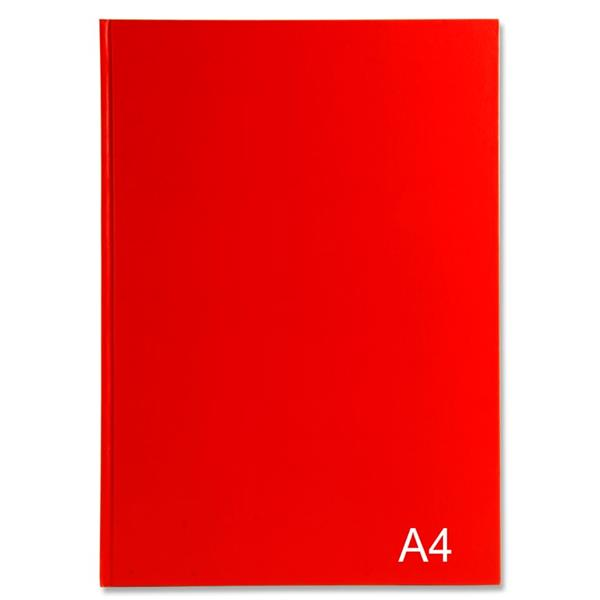 Notebooks Hardcover A4 B/R/B - 5 pack