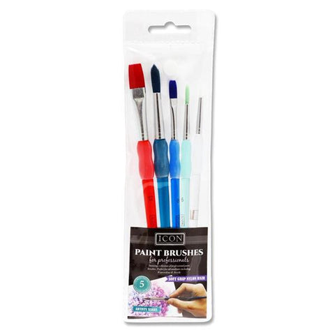 Brush set x 5 soft grip