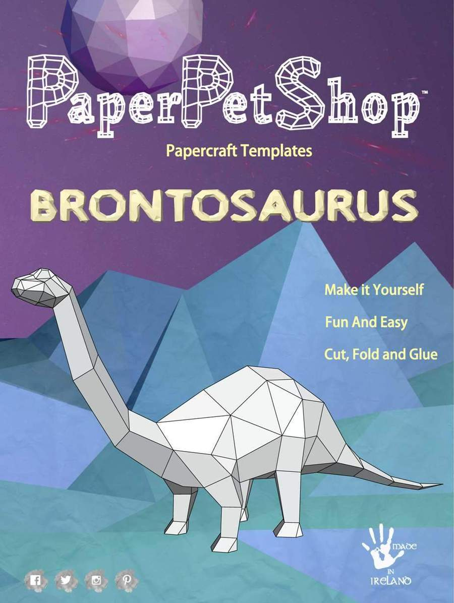 Paper Pet Kit - Brontosaurus