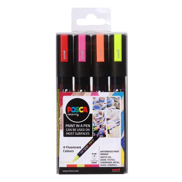 POSCA 5 FLUORESCENT COLOURS