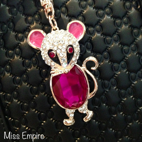 Whimsical Mouse Bag Charm