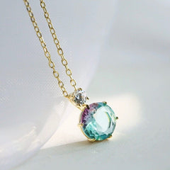 Audrey Pastel Rainbow Pendant Necklace