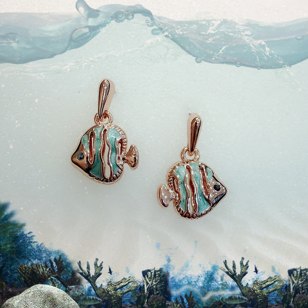 Fish Charm Earrings