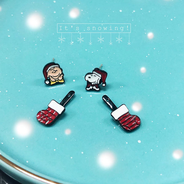 Christmas Edition - Snoopy & Charlie Brown Earrings