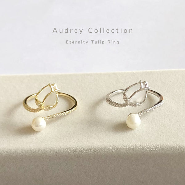 Audrey Eternity Tulip Ring