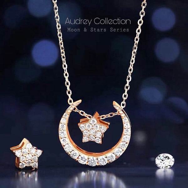Audrey Moon & Star Necklace