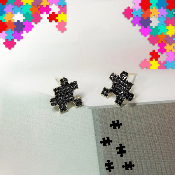 Audrey Jigsaw Puzzle Earrings