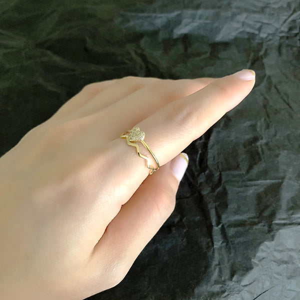 Audrey Mini Heart 2in1 Rings
