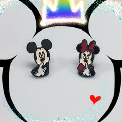 Mickey & Minnie Dimensional Earrings