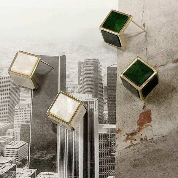 Audrey 3D Cubed Earrings