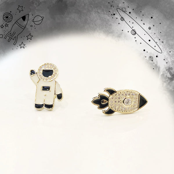 Astronomy and Space Rocket Earrings