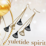 Dangling Fans Earrings