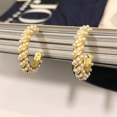 Adorable Mini Pearls Cuff Earrings