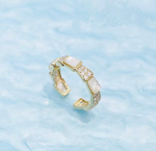 Audrey Mother of Pearl Cuff Ring