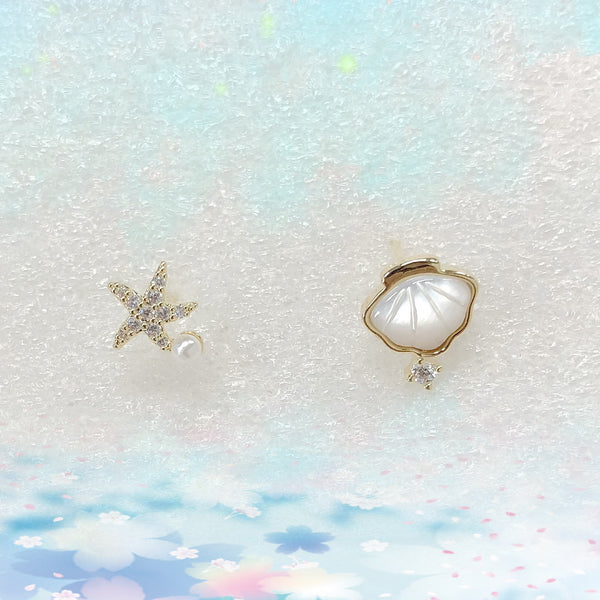 Audrey Seashell and Starfish Earrings