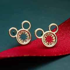 Auspicious Mickey Earrings