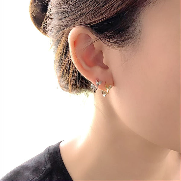 Audrey Brilliant Leaf Earrings