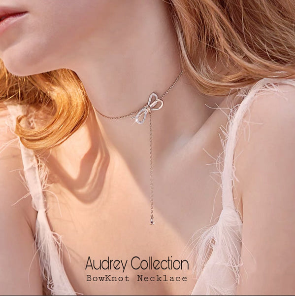 Audrey Bowknot Necklace