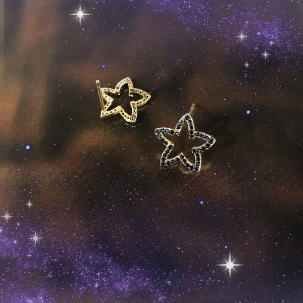 Audrey Star Outline Earrings