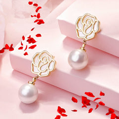 Audrey Camelia Earrings