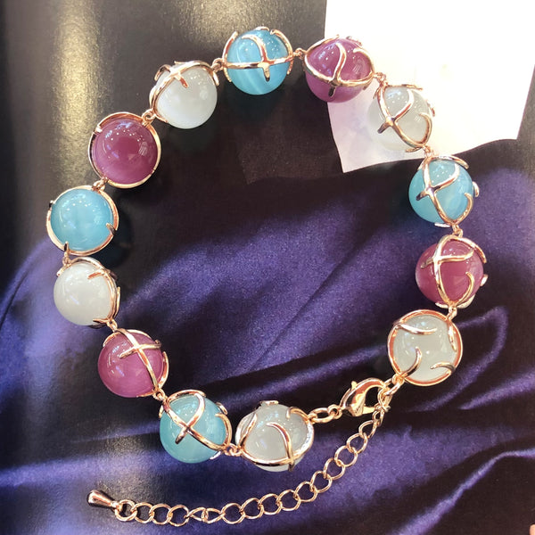 Colourful Moonstones Bracelet