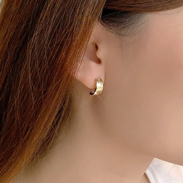 Audrey Indulgence Gold Cuff Earrings