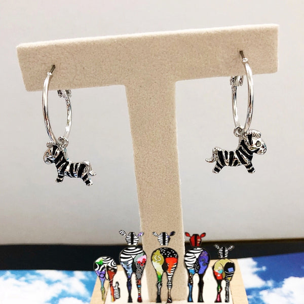 Zebra Charm Earrings