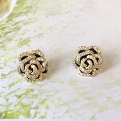 Audrey Camellia 3D Bloom Earrings