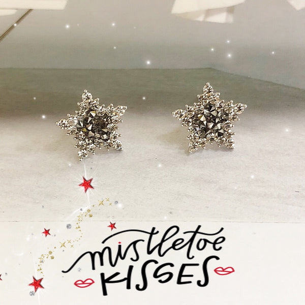 Crystal Rocks Star Earrings