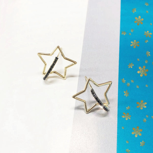 Audrey Minimal Star Earrings