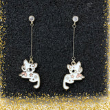Mysterious Cat Dangling Earrings