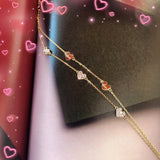 Audrey Timeless Mini-Hearts Layered Bracelet
