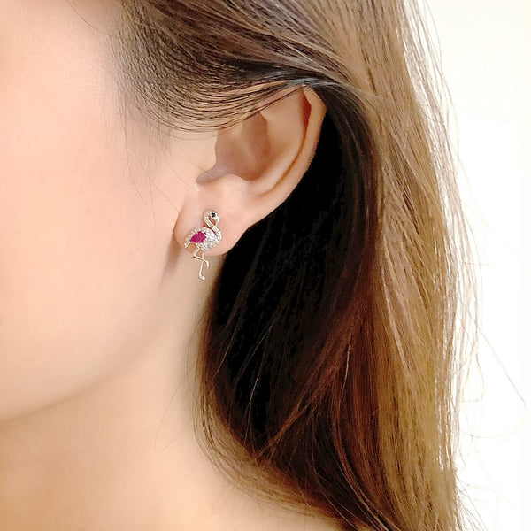 Audrey Flamingo Earrings