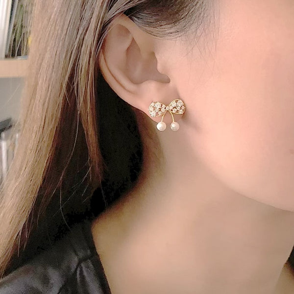 Audrey Plush Bow Earrings