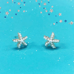 Adorable Mini-pearls Star Craze Earrings