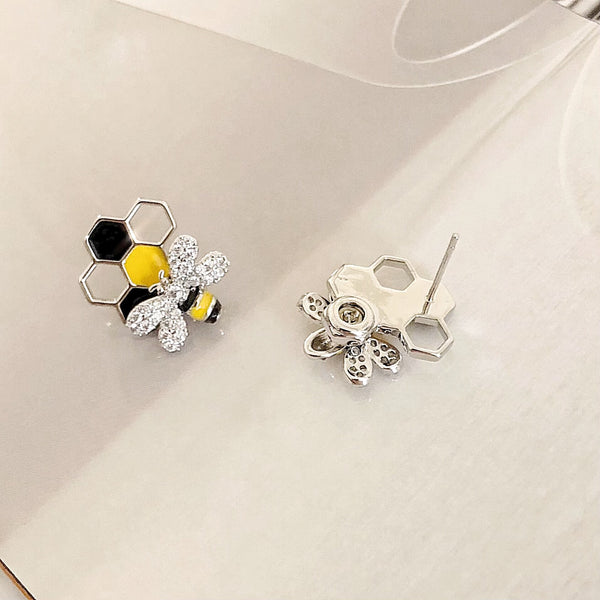Bumblebee Spinning Earrings