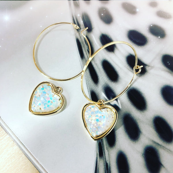 Confetti Heartshaped Earrings