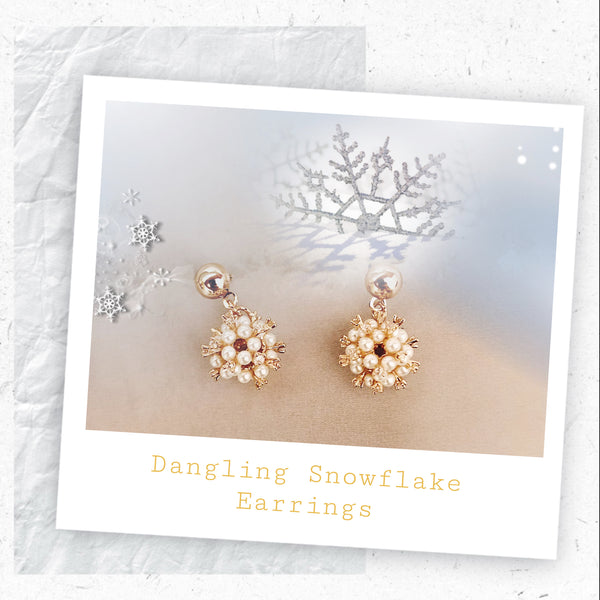 Dangling Snowflake Earrings