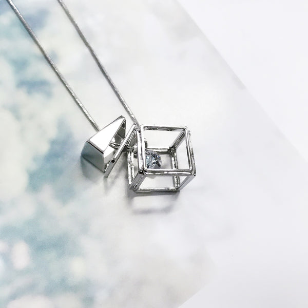 Geometric Cube Necklace