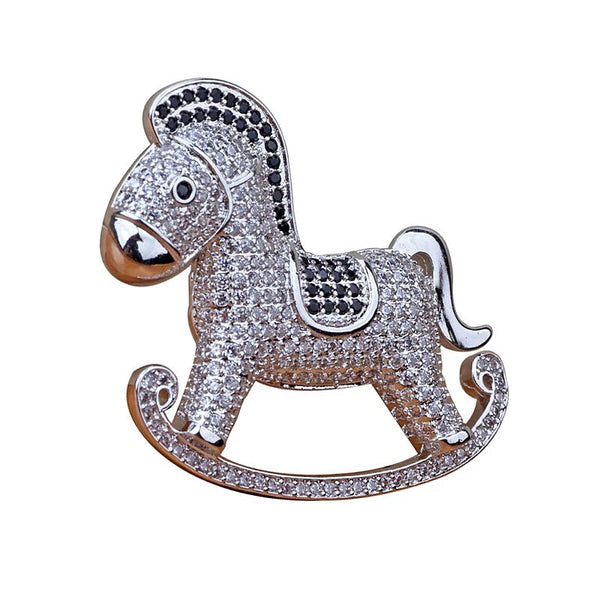 Timeless Rocking Horse Brooch